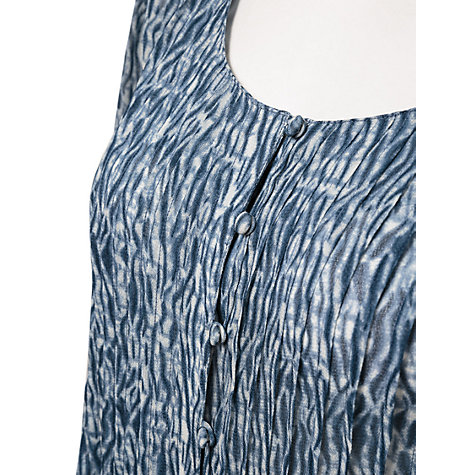 Buy East Shibori Georgette Blouse, Indigo Online at johnlewis.com