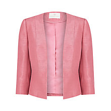 Buy Jacques Vert Edge to Edge Jacket, Blush Online at johnlewis.com
