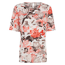Buy Windsmoor Blurred Floral Top, Coral Online at johnlewis.com