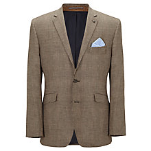 Buy John Lewis Prince of Wales Check Wool & Cotton Jacket, Tan Online at johnlewis.com