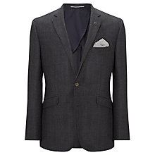Buy John Lewis Wool Check Jacket, Charcoal Online at johnlewis.com