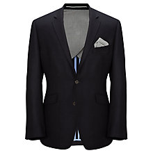 Buy John Lewis Basket Weave Tailored Wool Jacket, Navy Online at johnlewis.com