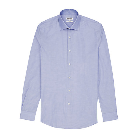 Buy Reiss Tyson Slim Fit Shirt, Blue Online at johnlewis.com