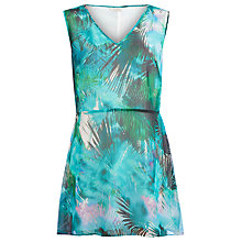 Buy Kaliko Palm Print Top, Multi Green Online at johnlewis.com