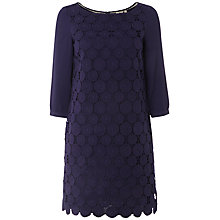 Buy White Stuff Lorelei Broderie Tunic Dress, Dark Grape Online at johnlewis.com