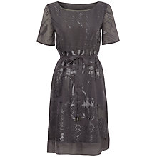 Buy White Stuff Rosetta Burnout Dress, Silver Grey Online at johnlewis.com