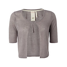 Buy White Stuff Josette Linen Blend Knitted Shrug, Silver Grey Online at johnlewis.com