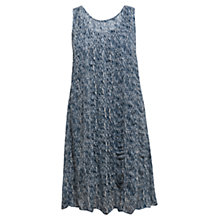 Buy East Shibroi Woven Sleeveless Dress, Indigo Online at johnlewis.com