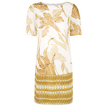 Buy Kaliko Mixed Print Tunic Dress, Yellow Online at johnlewis.com