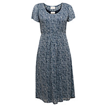 Buy East Shibori Wave Tie Back Dress, Indigo Online at johnlewis.com
