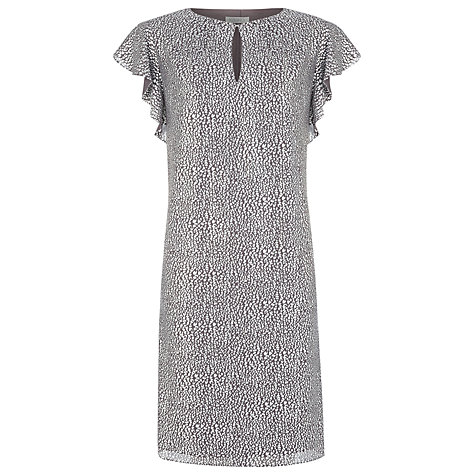 Buy Kaliko Frill Sleeve Metallic Dress, Charcoal Online at johnlewis.com