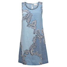 Buy East Linen Kara Print Dress, Sky Online at johnlewis.com