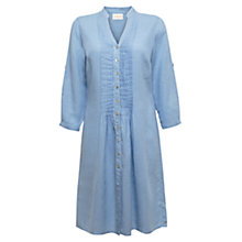 Buy East Linen Pintuck Shirtdress, Sky Online at johnlewis.com
