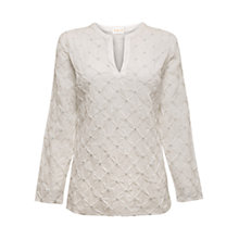 Buy East Knit Voile Kurta Top, White Online at johnlewis.com