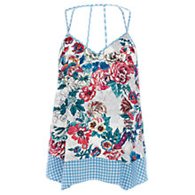 Buy Warehouse Floral Geo Hankie Cami, Multi Online at johnlewis.com