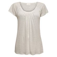 Buy East Pleat Front Linen Top Online at johnlewis.com