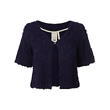 Buy White Stuff Ruffle Bolero Jacket, Dark Grape Online at johnlewis.com