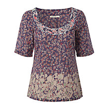 Buy White Stuff Batik Floral Top, Periwinkle Online at johnlewis.com
