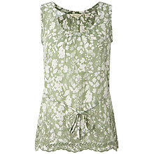 Buy White Stuff Softly Embellished Vest, Willow Green Online at johnlewis.com