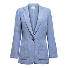 Buy East Cross Dye Boyfriend Jacket, Sky Online at johnlewis.com