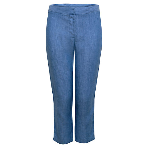 Buy East Cross Dye Capri Trousers, Ocean Online at johnlewis.com