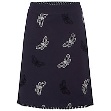 Buy White Stuff Butterfly Embroided Skirt, Darkest Periwinkle Online at johnlewis.com