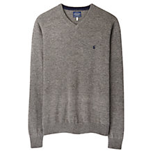 Buy Joules Retford V-Neck Wool Blend Jumper, Grey Marl Online at johnlewis.com
