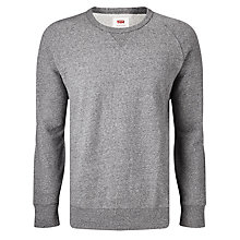 Buy Levi's Original Crew Neck Jumper, Grey Heather Online at johnlewis.com