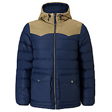 Buy Levi's Hooded Puffer Jacket, Dress Blue Online at johnlewis.com