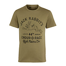 Buy Levi's Jack Rabbit Graphic T-shirt, Burnt Olive Online at johnlewis.com