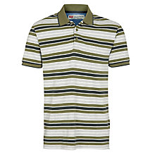 Buy Levi's Stripe Piqued Polo Shirt, Earth Green Online at johnlewis.com