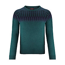 Buy Scotch & Soda Fair Isle Pattern Knit Jumper, Green Online at johnlewis.com