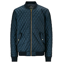 Buy Scotch & Soda Quilted Ribbed Collar Bomber Jacket, Night Melange Online at johnlewis.com