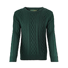 Buy Scotch & Soda Chunky Cable Knit Jumper, Bottle Green Online at johnlewis.com