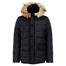 Buy Scotch & Soda Puffer Parka Jacket, Night Online at johnlewis.com