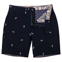 Buy Ted Baker Paisyay Embroidered Shorts, Navy Online at johnlewis.com