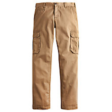 Buy Joules Thorpe Brushed Cotton Cargo Trousers, Taupe Online at johnlewis.com