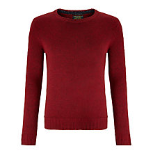 Buy Scotch & Soda Nepped Yarn Crew Neck Jumper, Berry Online at johnlewis.com