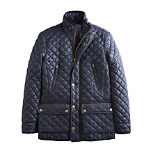 Buy Joules Foxton Quilted Jacket, Marine Navy Online at johnlewis.com
