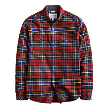 Buy Joules Buchanan Cotton Long Sleeve Shirt, Red Check Online at johnlewis.com