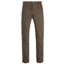 Buy Levi's Commuter 508 Regular Tapered Water Resistant Trousers, Olive Online at johnlewis.com