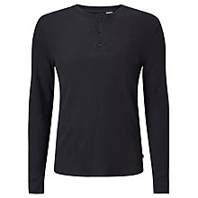 Buy Levi's Henley Long Sleeve Top, Black Online at johnlewis.com