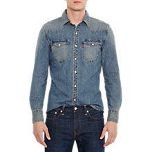 Buy Levi's Barstow Western Long Sleeve Shirt, Stonewash Online at johnlewis.com