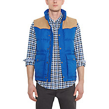 Buy Levi's Down Padded Gilet, Olympian Blue Online at johnlewis.com
