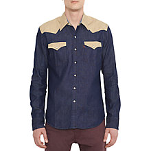 Buy Levi's Barstow Western Patch Long Sleeve Shirt, Denim Online at johnlewis.com
