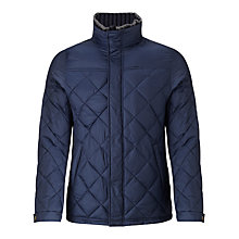 Buy Scotch & Soda Diamond Quilted Double Layer Parka Coat, Navy Online at johnlewis.com