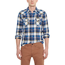 Buy Levi's Sawtooth Check Long Sleeve Shirt, Plaid Blue Online at johnlewis.com