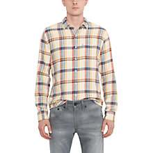 Buy Levi's One Pocket Check Long Sleeve Shirt, Cream Online at johnlewis.com