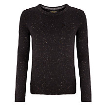 Buy Scotch & Soda Flecked Crew Neck Jumper, Black Rock Online at johnlewis.com