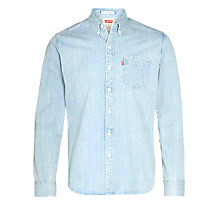 Buy Levi's One Pocket Bleach Long Sleeve Shirt Online at johnlewis.com